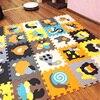 MEIQIKU 9PCS SET Baby Play Mat Cartoon Eva Foam Puzzle Mat Children Jigsaw Educational Playmat Digits