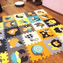 MEIQIcool 9 PCS/ENSEMBLE bébé tapis de jeu de bande dessinée eva mousse tapis de puzzle enfants puzzle jeu pour l'éducation chiffres jouer tapis infantile tuiles
