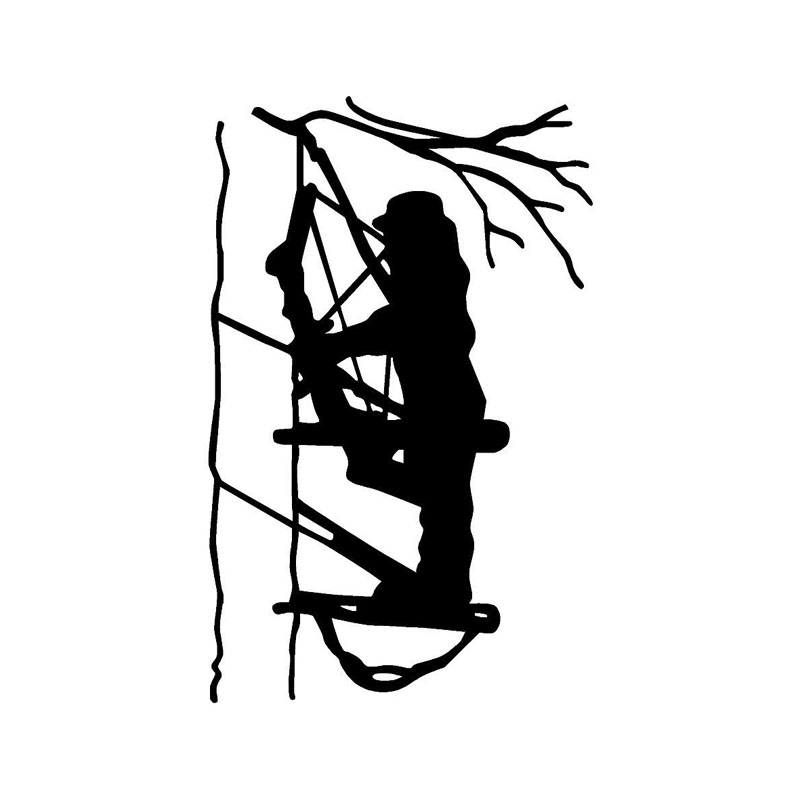 11.3*17.7CM Archery Hunters Use Bow And Arrow Decals Waterproof Vinyl Car Stickers Black/Silver C7-0066