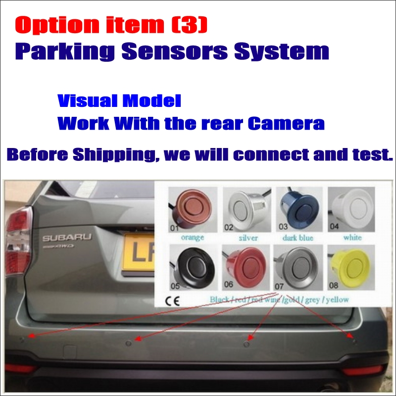 Car Parking Sensor Assistance System Dual Core 4 Radars Visible Model Work with Rear View Camera