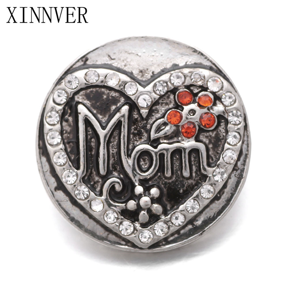 10pcs/lot Hot Sale MOM Snaps Button Fit 18mm Metal Snap Jewelry Fashion Charms Bracelets For Women ...