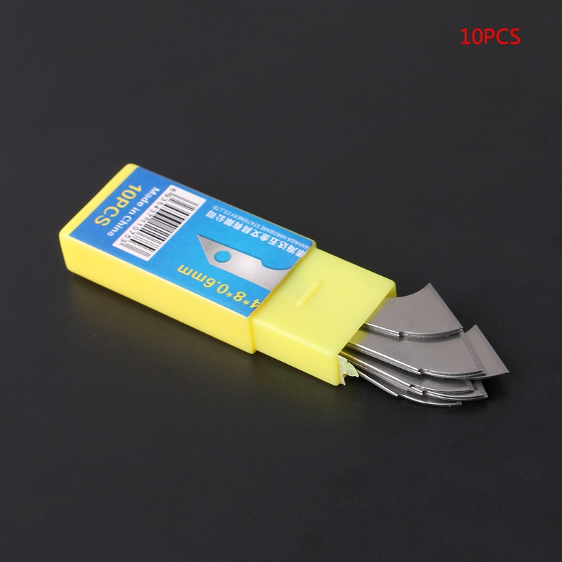 2019 New 10x Sharp Hook Knife Blade For Crafts Cutter Cutting Acrylic Plate Board Sheets
