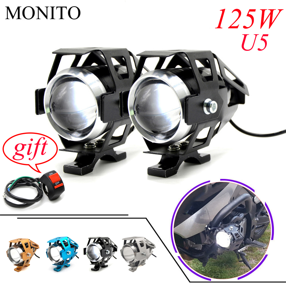 For KAWASAKI Z900 Z650 Z800 <font><b>NINJA</b></font> 250 300R <font><b>300</b></font> Z250 Z300 250R Motorcycle Light <font><b>LED</b></font> Driving <font><b>Headlight</b></font> Fog Light Auxiliary Lamp U5 image