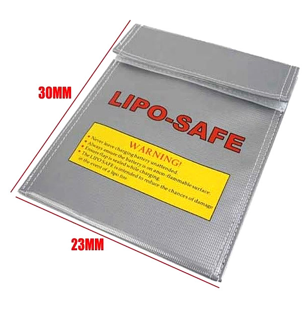 RC Fireproof Lipo Li-Po Battery Safety Guard Charge Bag safe 300 x 230 mm ( 30cm x 23cm) supernova sale