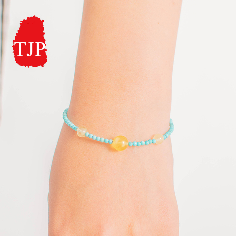 TJP Natural jade A cargo round Turquoise Bracelet anklet genuine turquoise with jewelry Gemstone free shippingTJP Natural jade A cargo round Turquoise Bracelet anklet genuine turquoise with jewelry Gemstone free shipping