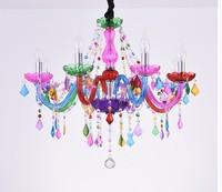 Decorative Colorful Chandelier Bohemia Chandelier lustres de cristal Decoration Tiffany Pendants and Chandeliers Home Lighting