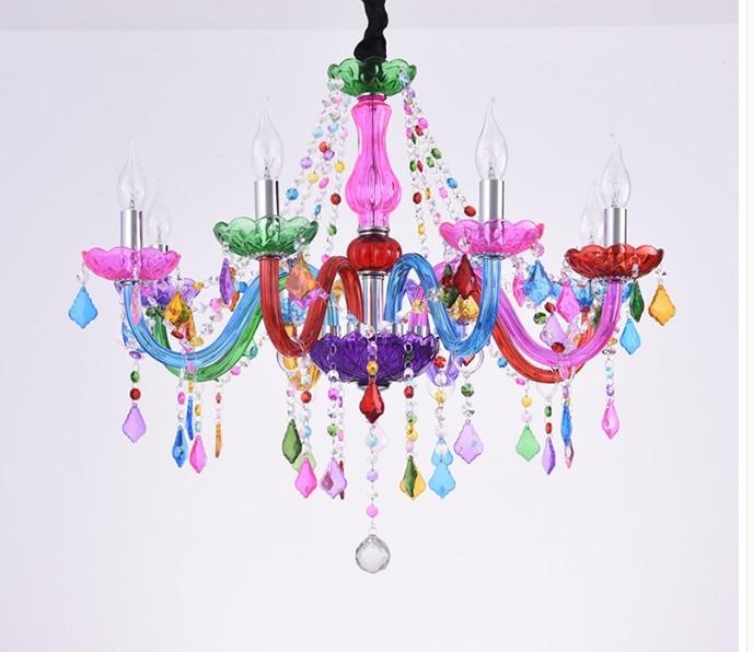 Decorativo colorido lustre bohemia lustres de cristal decoração tiffany pingentes e lustres iluminação para casa
