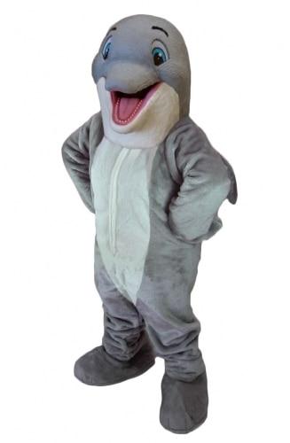 Happy Dolphin Mascot Costume Version 3 Adult Unisex Cartoon Character Mascot Costume Custom Made