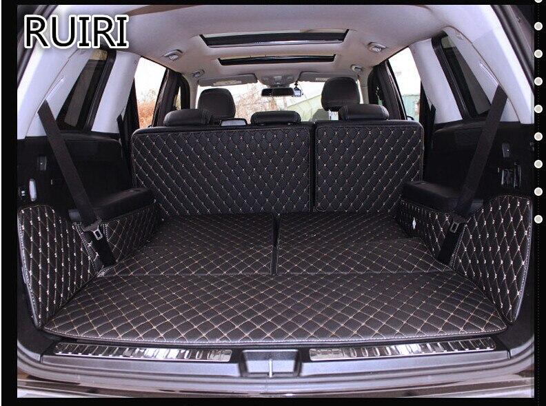 Высокое качество! Специальные коврики для багажника для Mercedes Benz GL 500 X164 2011 2006 7 мест прочный грузовой лайнер ботинок ковры для GL500 2010