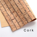 cork fabric Natural dark stripe cork leather natural Material Kork 60*88cm/23.6*34.6inch Cor-34