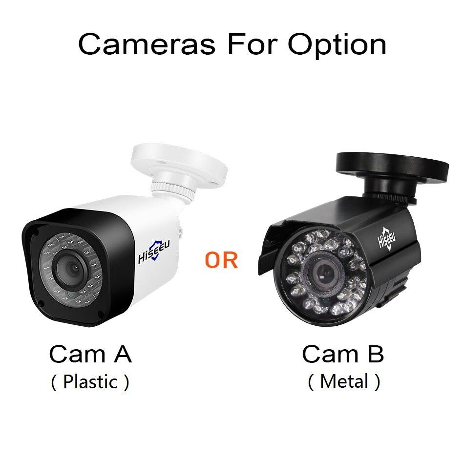 Hiseeu HD 4CH 1080N 5in1 AHD DVR Kit système cctv 2 pièces 720 P/1080 P AHD étanche/caméra vidéo 2MP P2P Surveillance de Sécurité Ensemble - 3