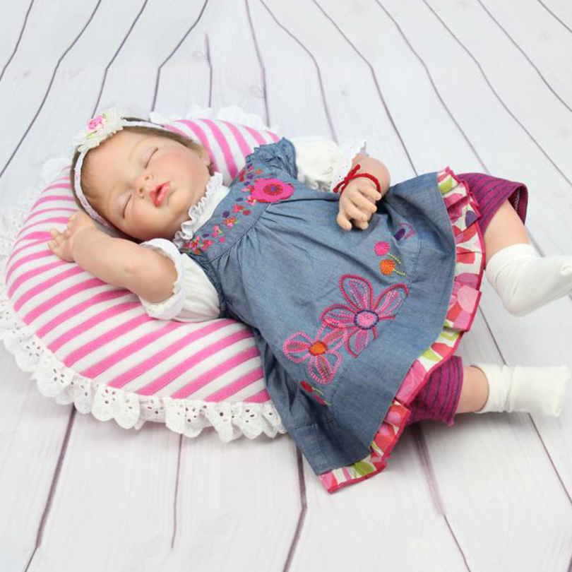 Baby Girl Birthday Gift Dolls Reborn Babies Cotton Body Silicone Doll Early Education Bedtime Partner for Children Baby Born christmas gifts in europe and america early education full body silicone doll reborn babies brinquedo lifelike rb16 11h10