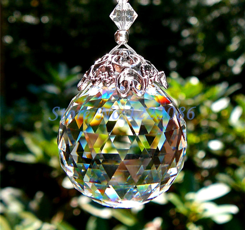 1Pcs Huge 80mm Glass Chandelier Hanging Crystal Ball Sun Catcher