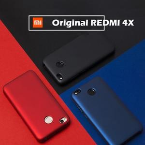 Image 4 - 원래 xiaomi redmi 4x 케이스 5.0 럭셔리 슬림 pc + 내부 소프트 벨벳 섬유 커버 케이스 xiaomi redmi 4x 프로 전화 가방