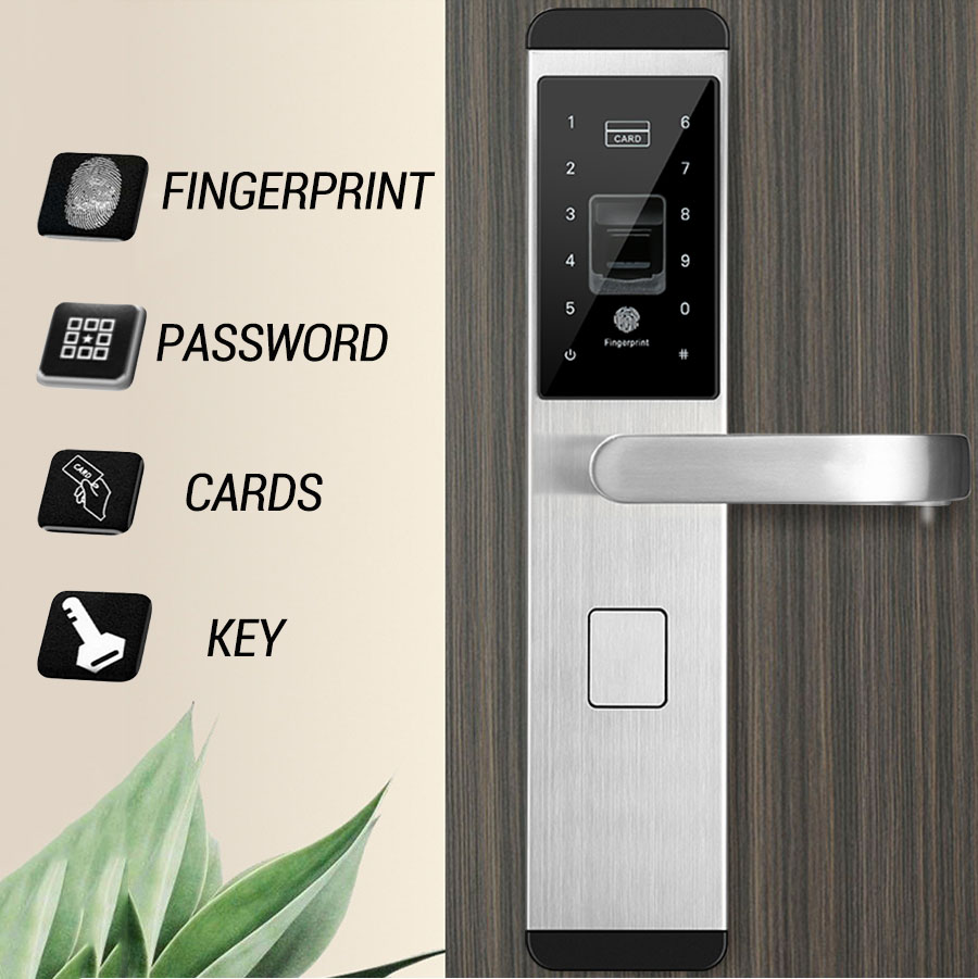 YOHEEN Smart Biometric Fingerprint Lock with Digital Password RFID