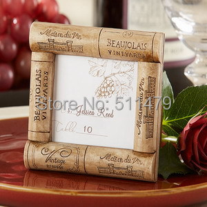 2014 New Arrivalwine Cork Place Card Holderwooden Picture Frame