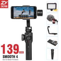 Presell Zhiyun Smooth 4 Handheld Gimbal Stabilizer Object Tracking Focus Pull For IPhone X 8 Samsung
