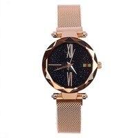 Dimini rose gold female watch shell Roman scale stainless steel iron mesh belt watch durable wristwath reloj erkek kol saati