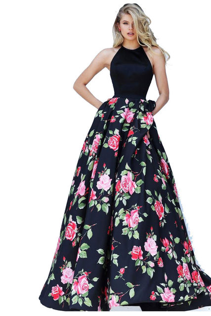 8b5dbbdc874b Women Formal Clothing for Evening Party Banquet Summer Backless Sleeveless  Halter Long Maxi Dress Floral Fit and Flare Dresses