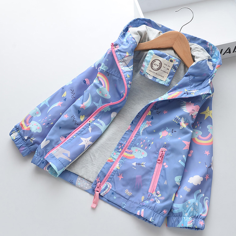 New Spring Women Coat Cartoon Unicorn Child Women Jackets Hooded Youngsters Windbreaker Autumn Kids Outerwear Coats Women Clothes Jackets & Coats, Low cost Jackets & Coats, New Spring Women...