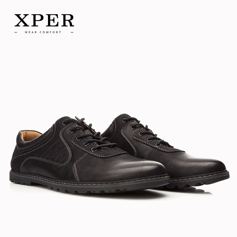 2016 XPER Brand Men Casual Shoes Lace-up Men Flats Shoes For Men Sporty Flats Business Zapatos Hombre YM86828BN