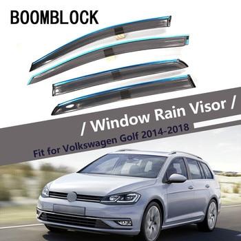 High Quality 4pcs Smoke Window Rain Visor For VW Golf 7 2018 2017 2016 2015 2014 Styling Vent Sun Deflectors Guard Accessories