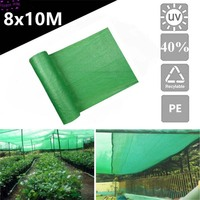 40% Sunblock Shade Cloth for Plant Cover Greenhouse Barn Green Sunshade Cover Garden Patio Orchard Accessorie 2 Pin Knit DIY