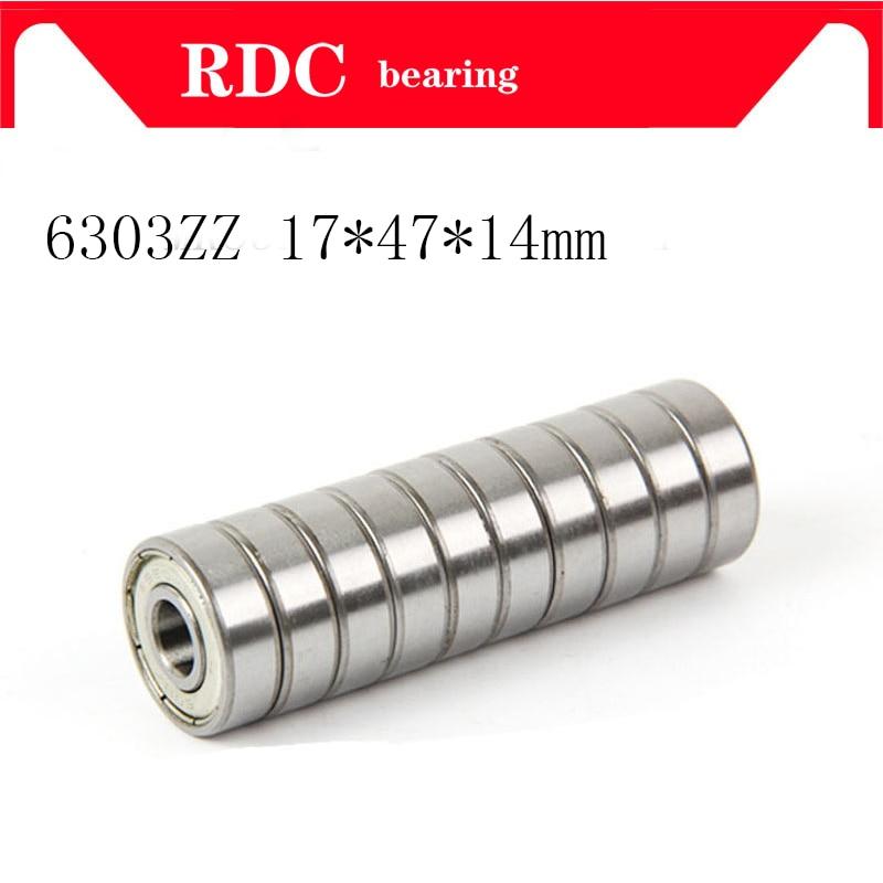 Free Shipping 6303ZZ Bearing 6303 2RS 80303 6303-ZZ Deep Groove Ball Bearing 17*47*14mm