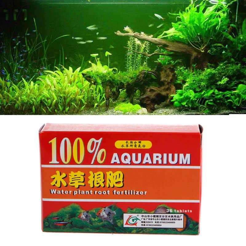 36pc/Box Aquarium Fish Tank Aquatic Cylinder Water Plant Root Fertilizer  Tablets