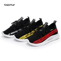 SWYIVY Female Sneakers Pointed 2018 Breathable Woman Casual Shoes Character Student Sneakers Wedge 40 Light Weight