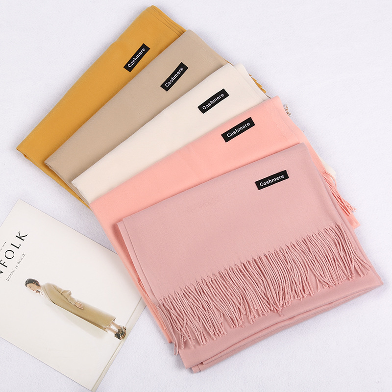 Hot sale   Scarf   Pashmina Cashmere   Scarf     Wrap   Shawl Winter   Scarf   Women's   Scarves   Tassel Long Blanket Cachecol High Quality YR022