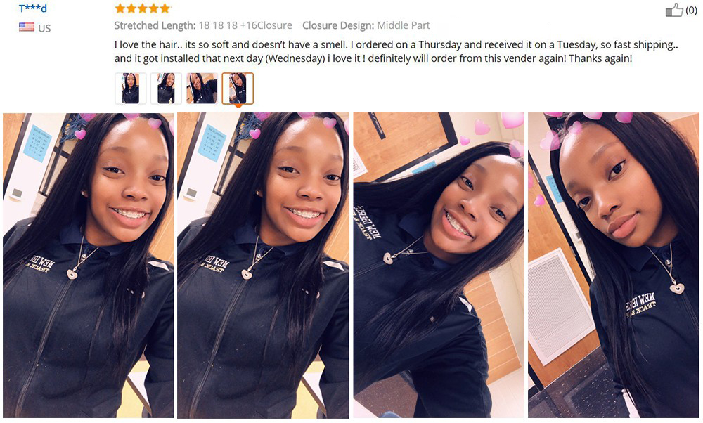 Brazilian Hair Bundles with closure 3 bundles straight hair with closure (3)