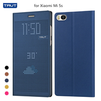 TAVT View Window Case For Xiaomi Mi 5S Cover Smart Sleep Wake Flip Leather Back Cover