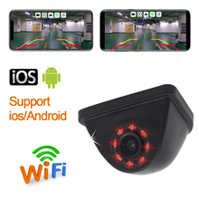 سيارة Wifi الرؤية الخلفية سيارة كاميرا وقوف السيارات عكس كاميرا HD للرؤية الليلية البسيطة الجسم المياه واقية تاكوغراف ل فون و الروبوت