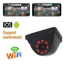 Xe Wifi Rear View Xe Máy Ảnh Bãi Đậu Xe Camera Lùi HD Tầm Nhìn Ban Đêm Nhỏ Cơ Thể không thấm Nước Máy Đo Tốc Độ Cho iPhone & Android