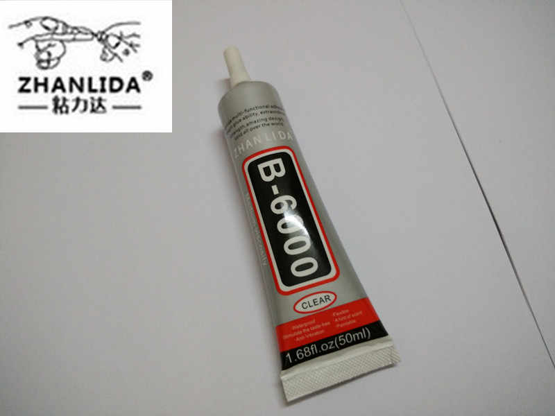 ZHANLIDA Rhinestone Glue B6000 50ml Similar E6000 Sealant for Jewelry Rhinestone Glass Mobile B-6000 UV Glue gun