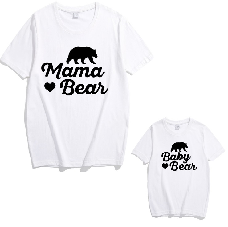 polar bear t shirt family matching outfits look mother daughter son tshirts mommy and me clothes mom mum baby dress clothing in Matching Family Outfits from Mother Kids