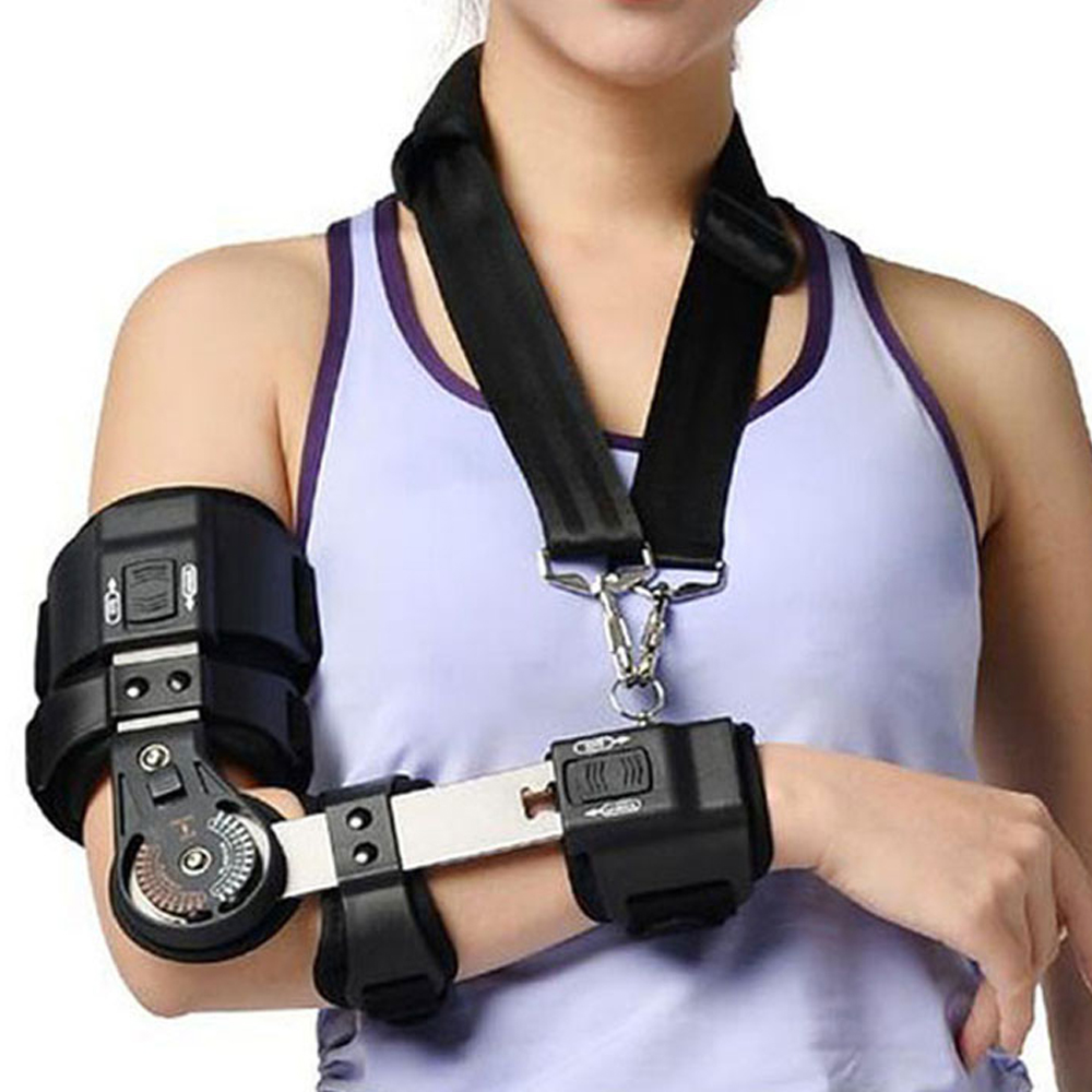 1Pcs Elbow Brace Elbow Support Adjustable Front Arm Guard Protector for Post Op Arm Injuries Recovery