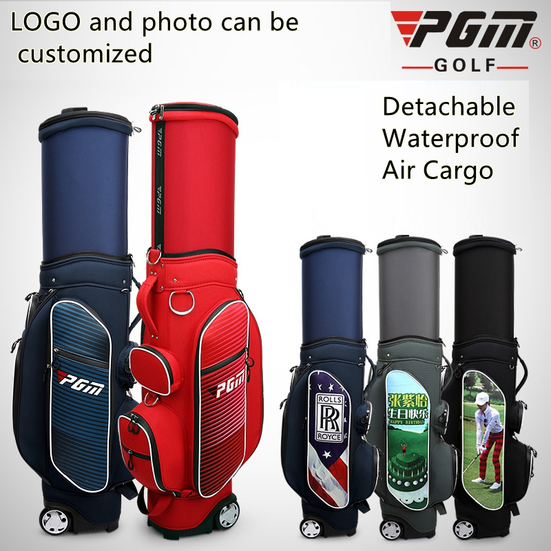 PGM Golf travel wheels stand caddy airbag flight aviation Multi-function high capacity golf cart bag staff golf customized bagsPGM Golf travel wheels stand caddy airbag flight aviation Multi-function high capacity golf cart bag staff golf customized bags