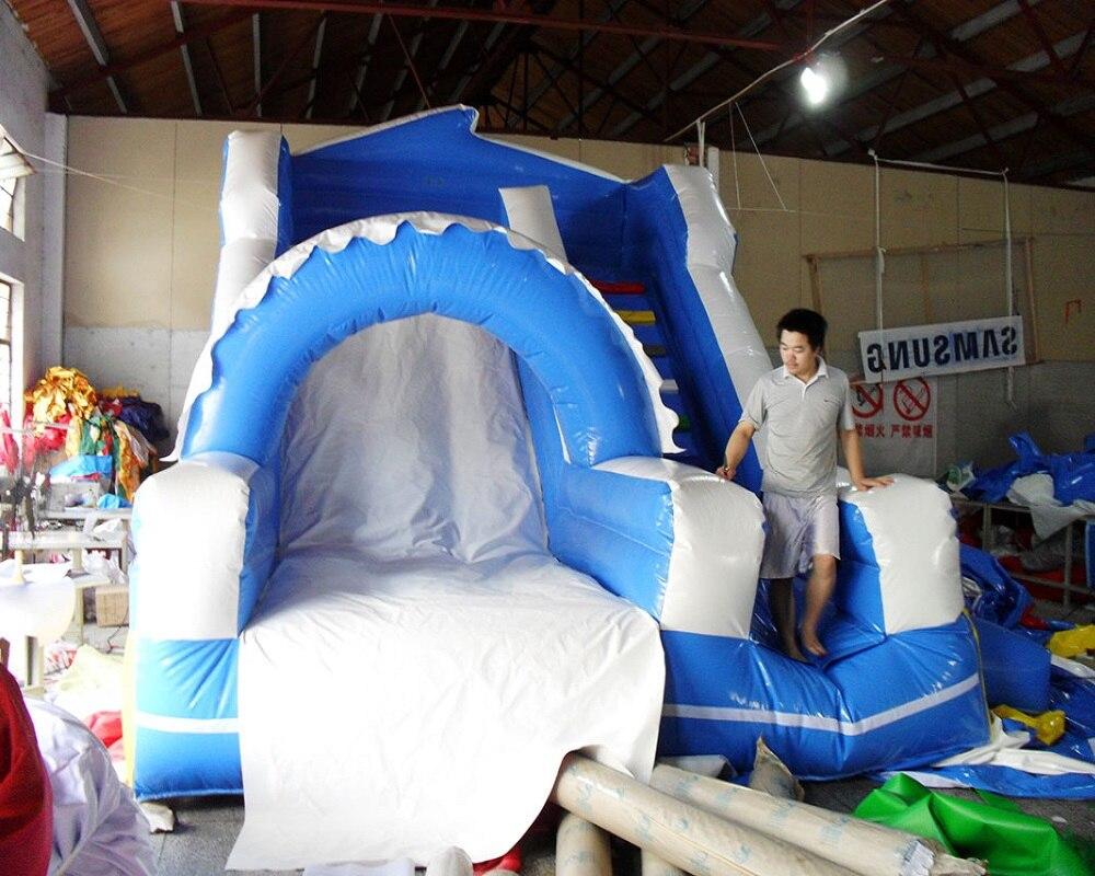 PVC anak-anak bermain slide tiup komersial slide tanah tiup untuk - Hiburan - Foto 2