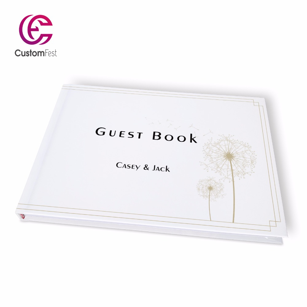 Free shipping Wedding  special classic dandelion  personalized Guestbook   GB024V пылесос с пылесборником miele sbad0 classic c1 special
