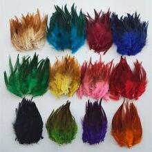 Atacado 50 pçs/lote 4 Penas de Faisão-6 Polegada 10-15 centímetros Plume decoração Plumas de Penas de galinha Frango DIY Jóias Pena