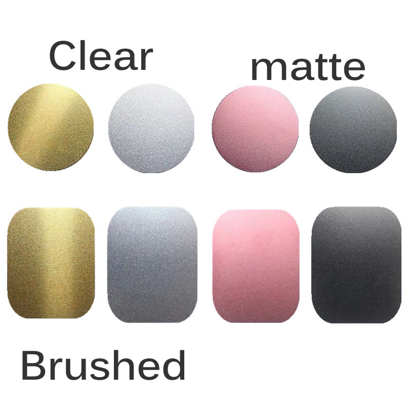2pcs Universal 45x65mm Matte Brushed Metal Plate Disk Iron Sheet For Iphone Oppo Magnet  Magnetic Car Mobile Phone Stand Holder