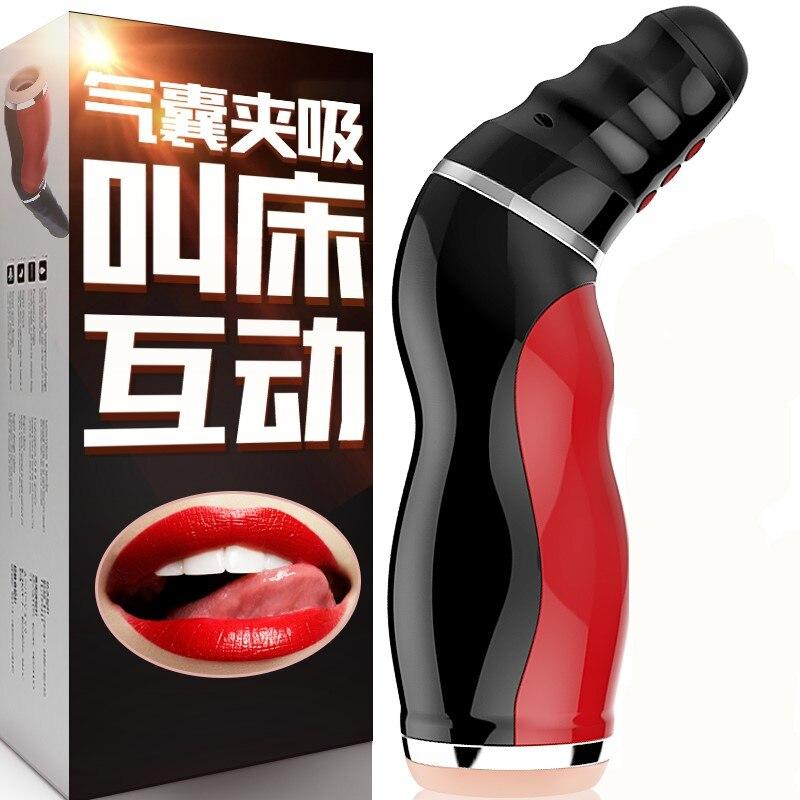 LUOGE Brinquedos Sexuais para Homens Vibrando Masturbador Masculino Sexo Oral Sugando Máquina Boquete Garganta Profunda Sexo Íntimos Adultos Produtos Do Sexo