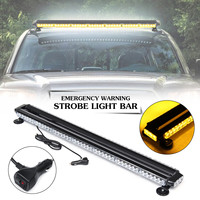 109x17x7cm 90LED 12V Double Side Roof Top Emergency Warning Strobe Flashing Light Bar 7 Different Modes of Flashing Waterproof