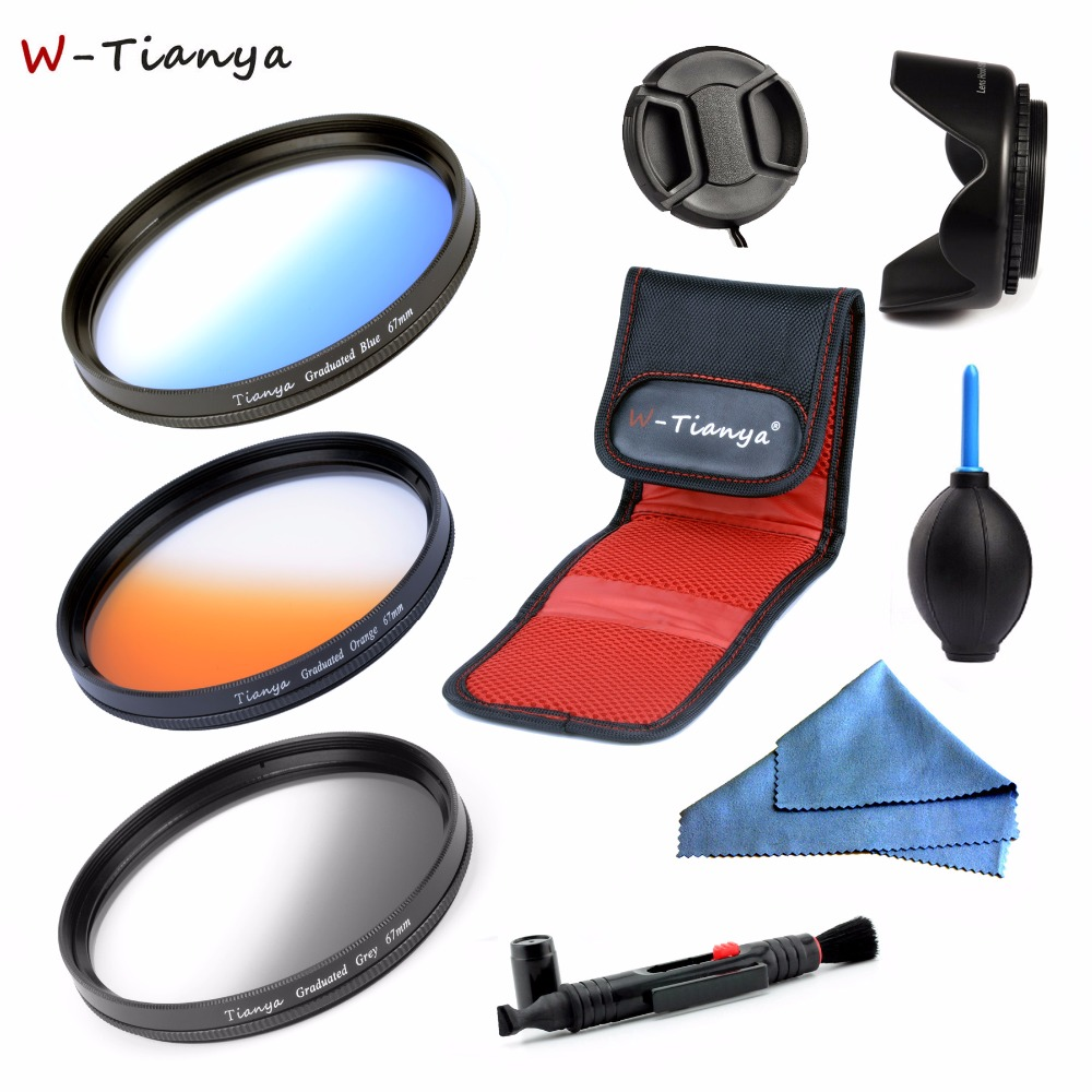 WTIANYA GRADUATED-FILTER-SETS FILTER-POUCH Orange 77mm-Lens Nikon Sony 67mm 52mm Canon