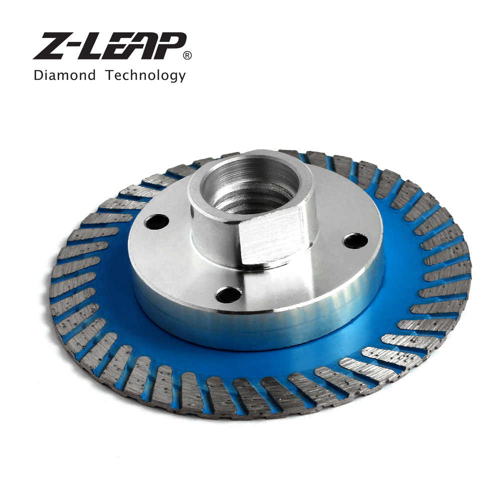 Z-LEAP 75 Mm Diamond Turbo Mini Pisau Pemotong dengan Removable Flange M14 5/8-11 Berlian Ukiran Disc Saw Blade untuk Batu Granit