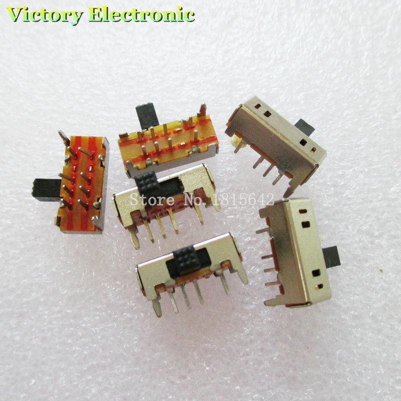 10PCS/Lot Double Pole Double Throw Switch / Horizontal Toggle Switch / Side Dial/ Two Rows Of Third Gear (2P3T) SK-23D06G5