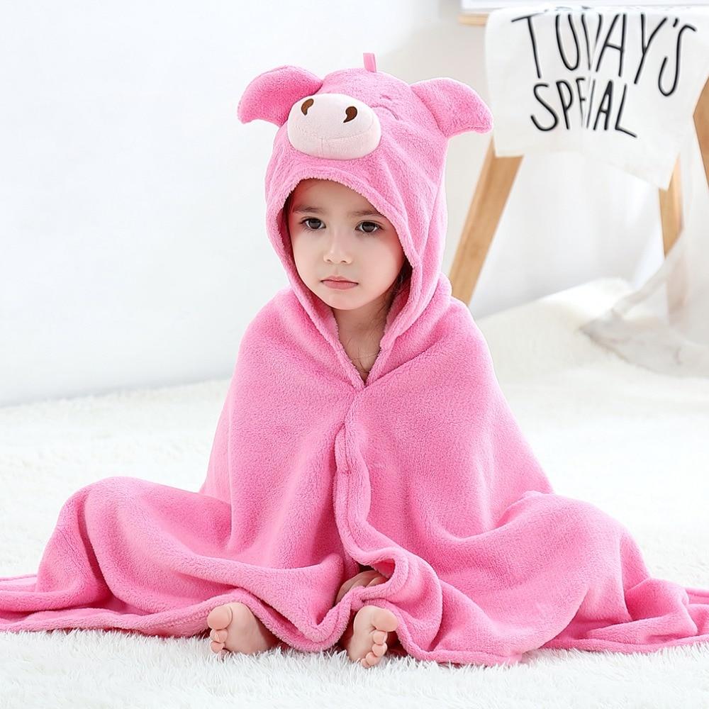 Baby Animal Cartoon Hooded Towel Beach Bath Robes Soft Children Poncho Towels Bathing Suit Towel For Boys Girls Kids Bathrobe 8