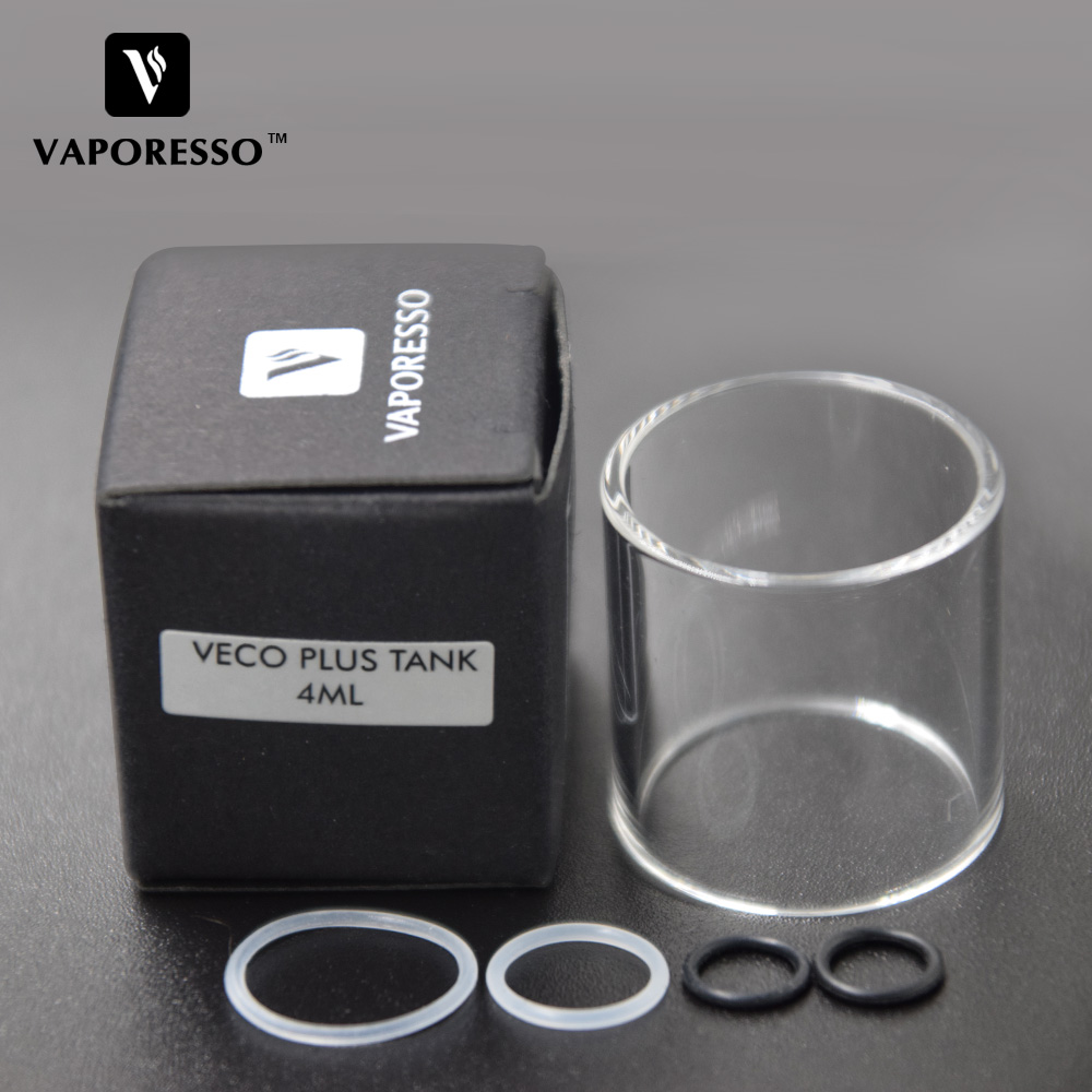 Original Vaporesso VECO PLUS Glass Tube for 4ml Vaporesso VECO Plus tank Atomizer Replacement Glass for E-cig vaping